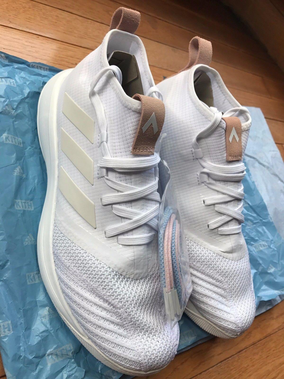 New Men's Adidas x Kith Flamingo Ace 17.1 TR Hybrid, White Size 10