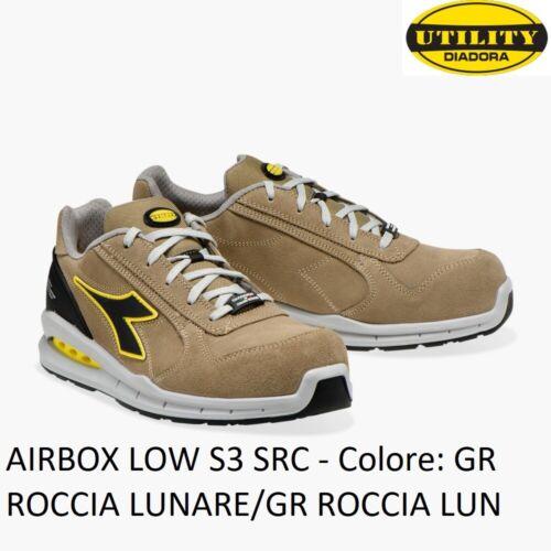 SCARPA ANTINFORTUNISTICA DIADORA RUN NET AIRBOX LOW S3 SRC Colore GR ROCCIA LUN