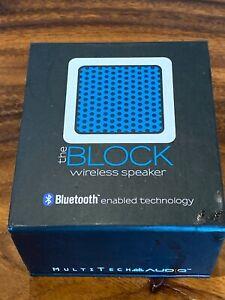 The-Block-Bluetooth-Wireless-Mini-Cube-Speaker-Blue