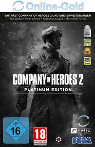 Company Of Heroes 2 Ii Platinum Edition Key Pc Steam Descargar Codigo Eu Es Ebay