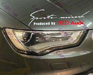 New-Headlight-Eyebrow-Car-Stickers-Decals-Graphic-Vinyl-For-Audi-White