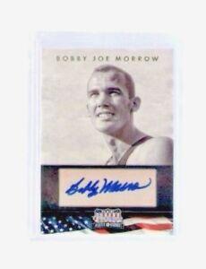 2012-Americana-Bobby-Joe-Morrow-Autograph-Card-1956-Olympic-3-Gold-Medals-Track
