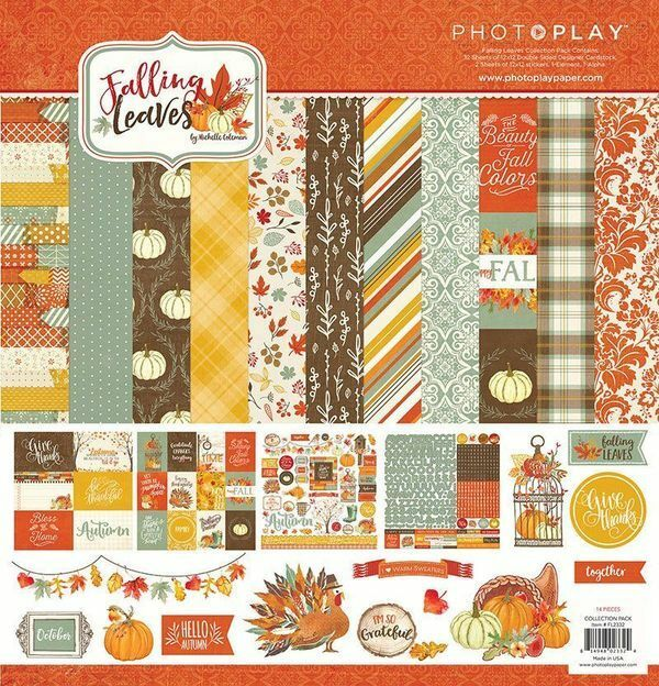 Photo Play Falling Leaves 12x12 Scrapbook Paper Collection Kit