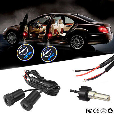 Pair Led Cars Auto Door Red Skull Style Welcome Light Laser Projector Lamp LO