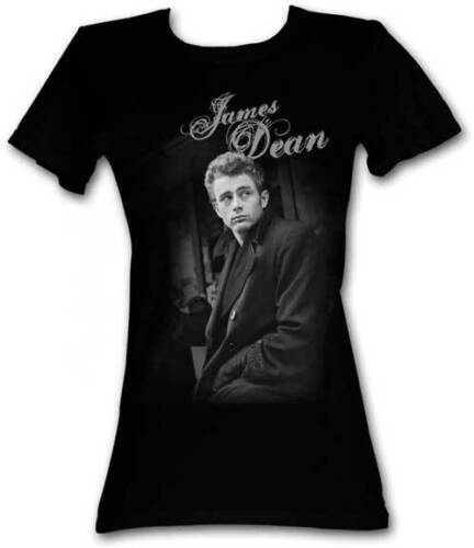 James Dean 1950/'s Icon Posing In Jacket Womans Fitted T Shirt