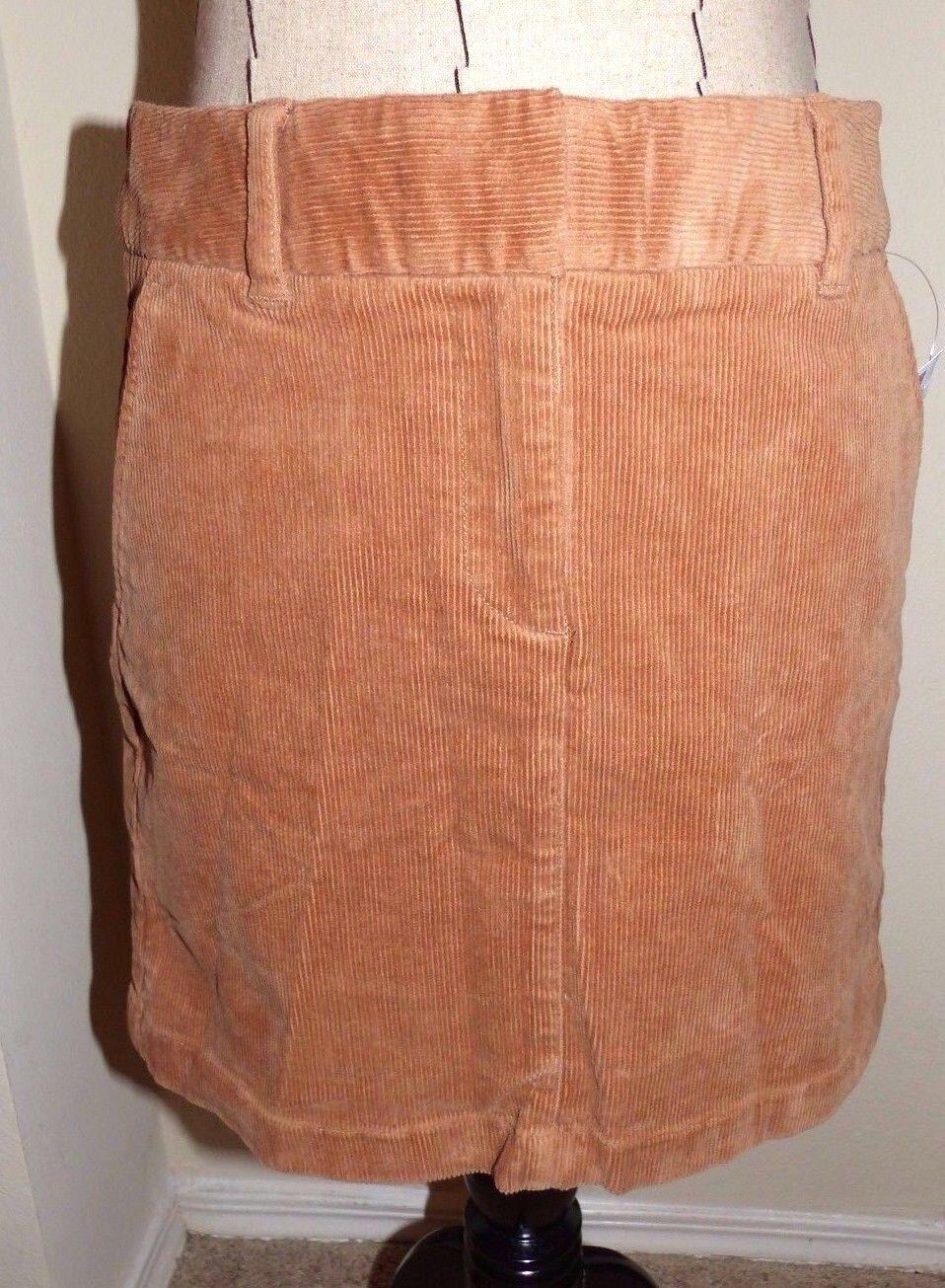 VINEYARD VINES  Ladies Corduroy Short Skirt  CAMEL  Size 8  NWT