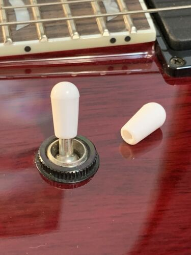 Ltd USA Seller~ 3x White 3 Way Toggle Switch Tips For Epiphone,Les Paul,SG