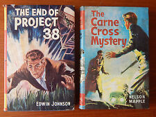 2X Old Books The Carne Cross Mystery Nelson Mapple  End Of Project 38 E Johnson