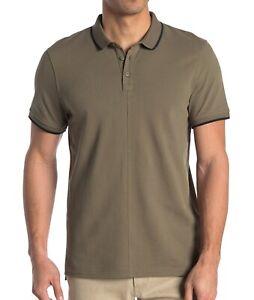 John-Varvatos-Star-USA-Men-039-s-Short-Sleeve-Dover-Tipped-Pique-Polo-Shirt-Sage-M