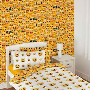 Image Is Loading Emoji Wallpaper Childrens Bedroom Wall Decor Feature