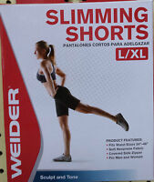 Weider Slimming Shorts - 24 Pieces Large/x-large Waist 34-46 Neoprene Wnsl13