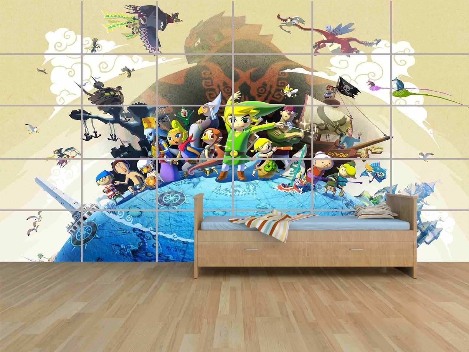 Link Zelda Wind Waker Giant Plakat Massif Riesig Raum Kinder -halle Spiele
