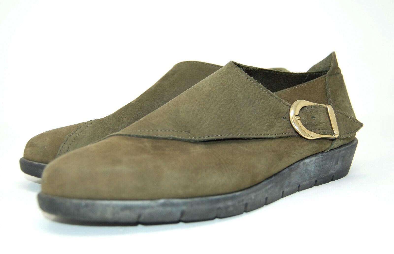 ARCHE gjorde i Frankrike skor fotbojor, spänne, grönt 39