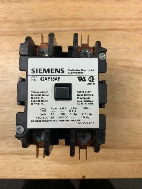 120V COIL @ 60HZ SIEMENS  42AF15AF  DEFINITE PURPOSE CONTROLLER 2-POLE