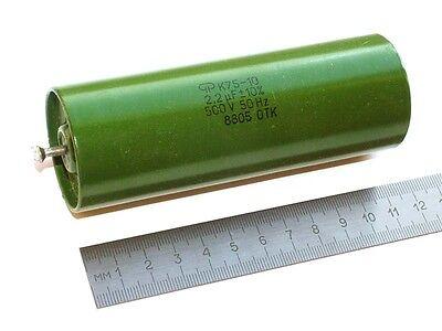 2 pcs 2.2uF 2,2uF 250V 10/% K75-10 Hybrid PIO Capacitors USSR NOS