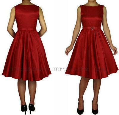 Rockabilly 50s Vintage Evening Retro Swing Pinup Formal Dress size 8 - 28 Plus