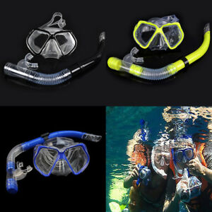 2822a5f97b5 Image is loading ADULT-Snorkel-Mask-Diving-Scuba-Snorkeling-Swimming-Goggles -