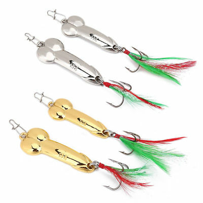 Hot Sale 5g-20g Gold//Silver Tackle Spoon Feather Bait Metal Hooks Fishing Lure