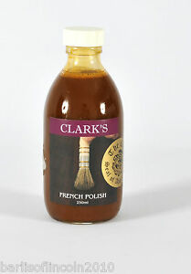 Clark's French Polish/ Ready Mixed/ Shellac/ Woodwork/ High Quality/ 250ML