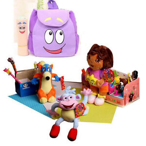4PCS/ Toy Set Dora the Explorer Dora Toy Dora Doll for Girls Kids Boots the Monk