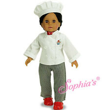 "Doll Clothes AG 18"" Baking Chef Pants Top Hat Bandana Fits American Girl Dolls"