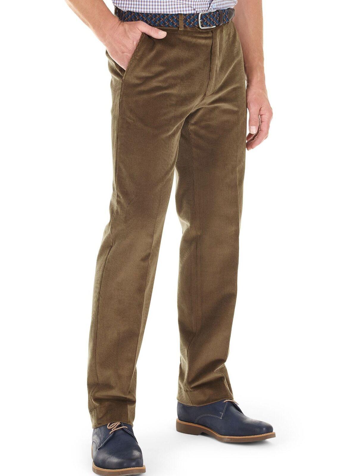Gurteen Verona Stretch Cord Trousers - Suede