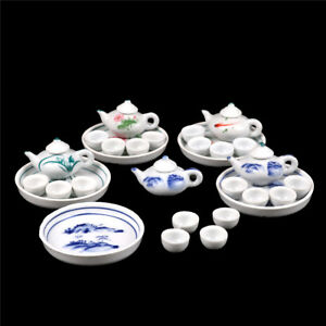 Kid-Pretend-Play-Miniature-Dining-Ware-Porcelain-Tea-Set-Dish-Cup-Plate-TOY-S-J7