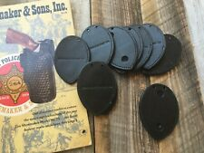 Tex Shoemaker 301d Police Black Leather Oval Badge Shield Holder For Raid Chain