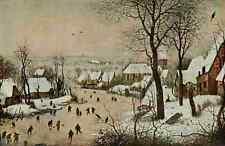 A4 Photo Bruegel Pieter Nederlandsche Schilderkunst 1900 Village with Snow Print