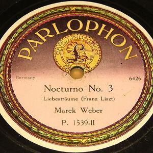 MAREK-WEBER-034-Nocturno-No-3-034-PARLOPHON-78rpm-Autographed-Matrix-78rpm-12-034