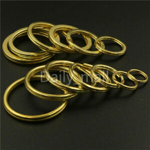 Solid-Brass-Split-Rings-Double-Loop-Key-ring-10-38mm-Leather-Craft-hardware