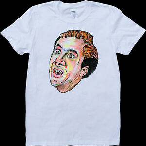 Nicolas-Cage-Funny-Men-039-s-White-Custom-Made-T-Shirt