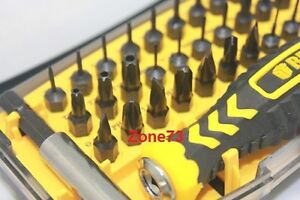 32 in 1 screwdriver tool cell phone torx set t2 t3 t4 t5 t6 t7 t8 t9 t10 y1 u4 ebay. Black Bedroom Furniture Sets. Home Design Ideas