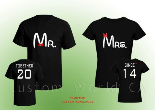 Together Since Shirts Mr and Mrs Couple T-shirt Couple Love Put the Dates Custom