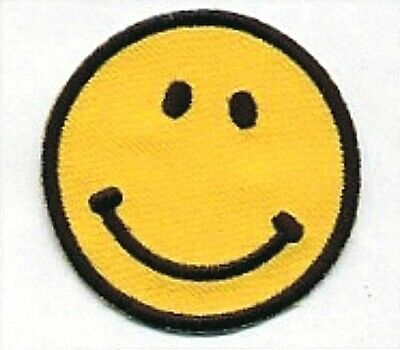"""2/"""" Classic Yellow Have a Nice Day Smiley Face Embroidery Patch"""