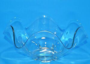 Duncan Miller Glass Co. CANTERBURY No.115 Crystal Medium Ruffled Bowl