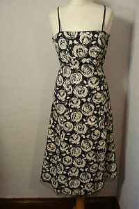 BNWT-Ariella-black-amp-white-print-dress-netted-8-10