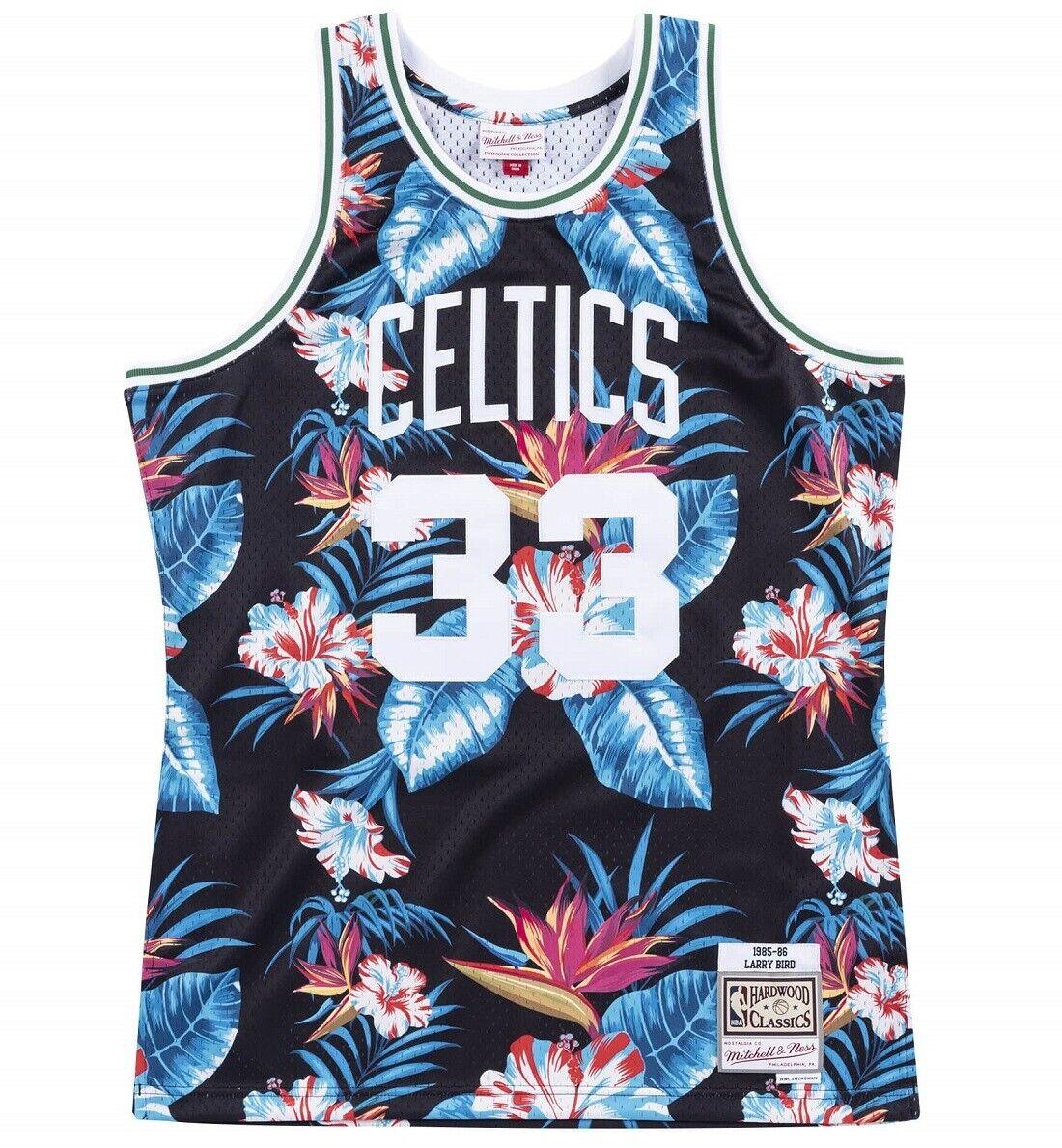 Mitchell & Ness Floral Swingman Jersey Boston Celtics Bird  33