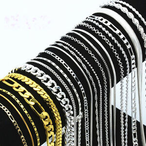 5PCS-Lots-925-Silver-Sterling-Necklace-16-30-039-039-Women-Men-Fashion-Jewelry