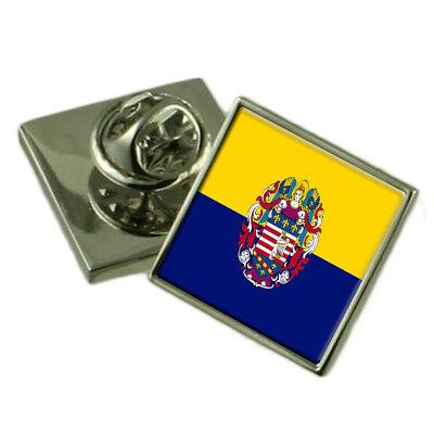 Banska Bystrica City Slovakia Sterling Silver Flag Cufflinks Engraved Box