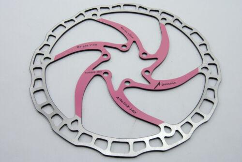 Ashima Airotor Mountain Bike Disc Brake Rotor MTB 180mm 180 mm 112g PINK