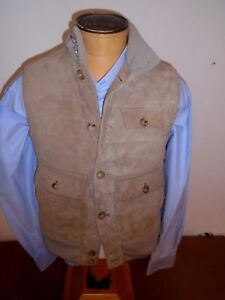 Ralph-Lauren-Purple-Label-Suede-Down-Fill-Quilted-Vest-NWT-Small-2495-Antelope