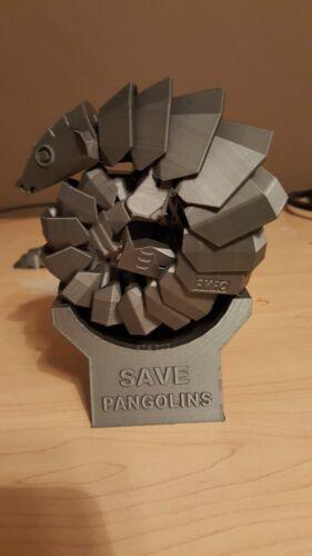 Pangolin Toy Figure Moveable replica plastic Fidget Help bring awareness