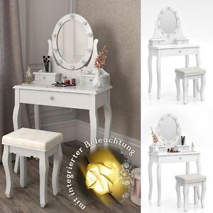 schminktisch villandry wei kosmetiktisch frisierkommode frisiertisch spiegel 4260486831314 ebay. Black Bedroom Furniture Sets. Home Design Ideas