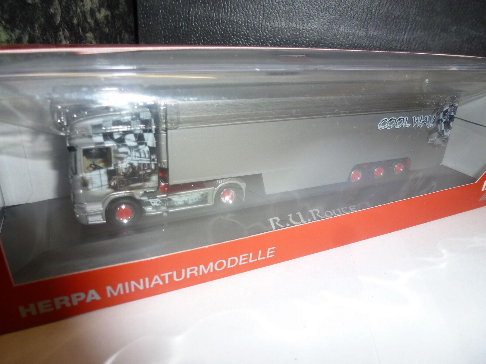 Herpa, Scania R TL Kühlkoffer-Sattelzug  R.U.Route   | Zu einem erschwinglichen Preis