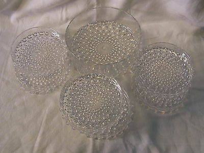 Mid Century 60´s  7 Bubble Glass Bowl Finger Food Dessert Set #<
