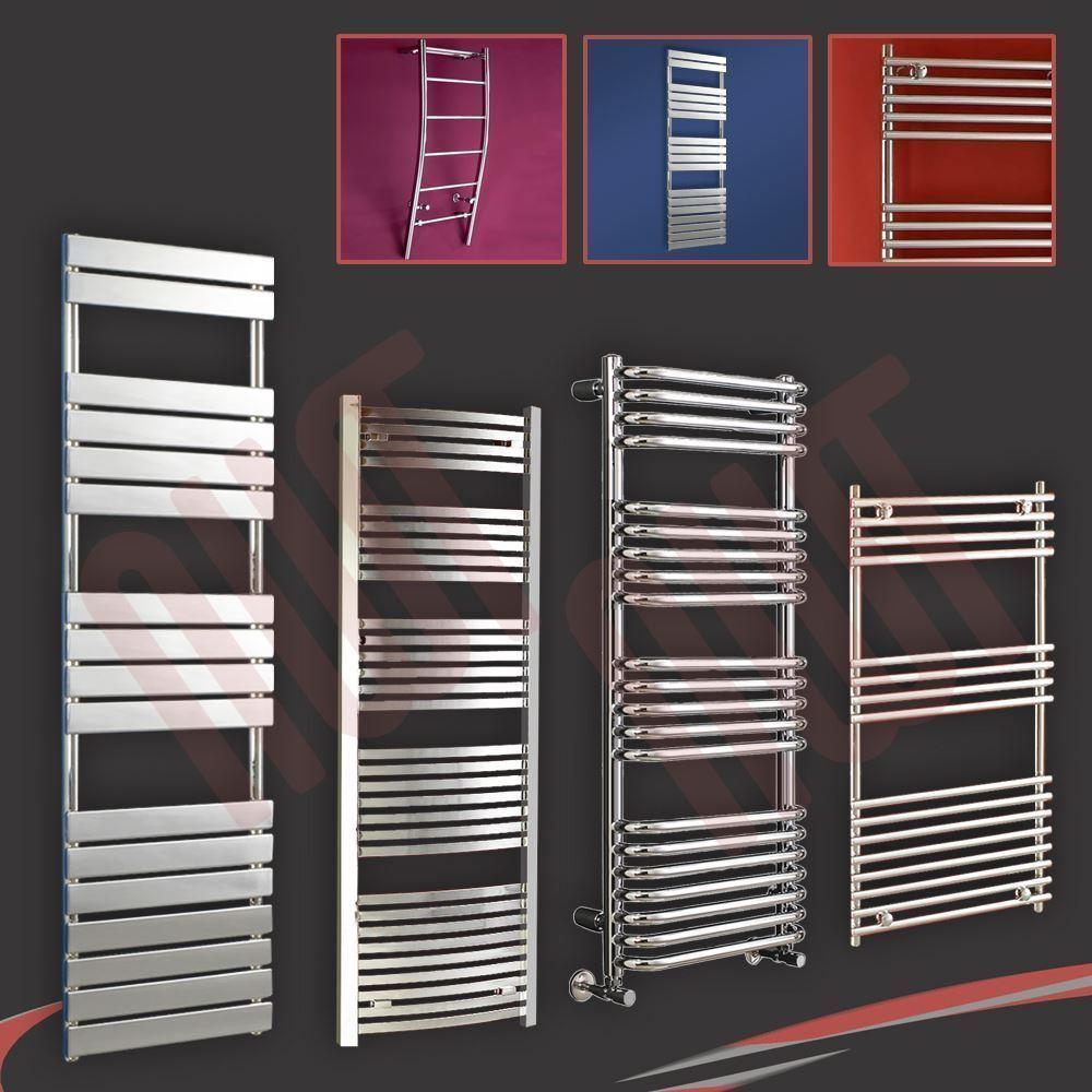 Designer chrome chauffé porte-serviettes, salle de bains serviette chauffe-radiateurs