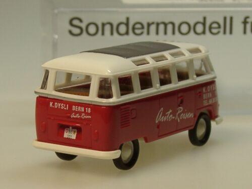 modello speciale ch Brekina VW t1 Samba dysli auto-Viaggi 90886-1:87