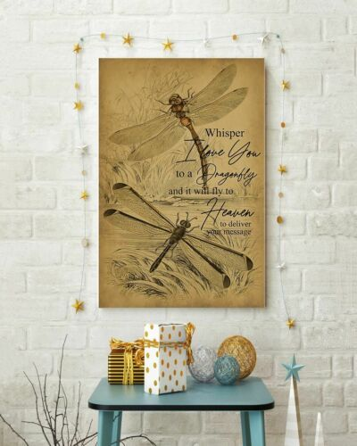Details about  /I Love You To A Dragonfly Vertical Poster Wall Decor Poster no frame