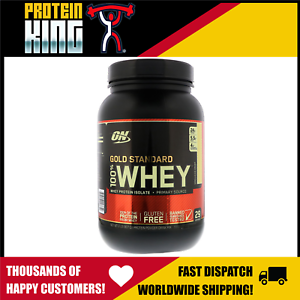 OPTIMUM 100% GOLD STANDARD 909G VANILLA ICECREAM WHEY PROTEIN 2lb MYOFUSION 2LBS